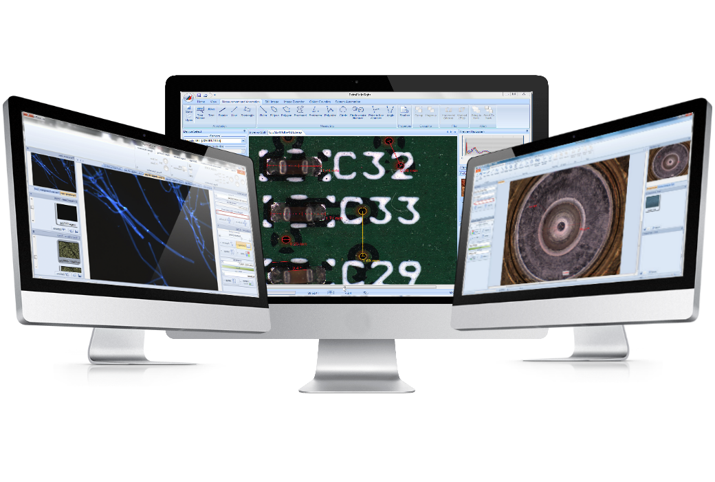 DeltaPix InSight Microscope software on screen