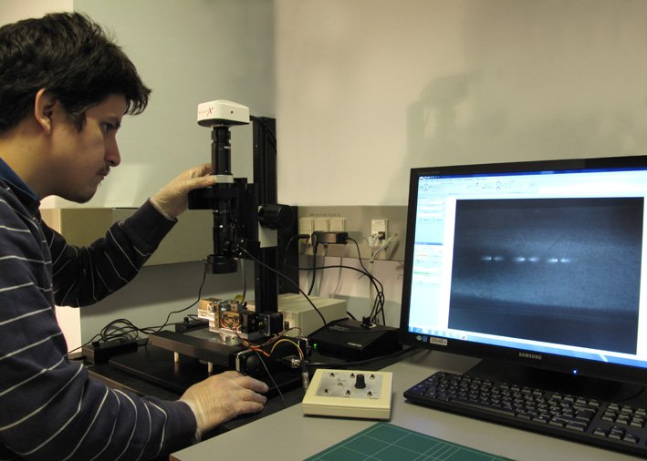 DeltaPix microscope solution installation