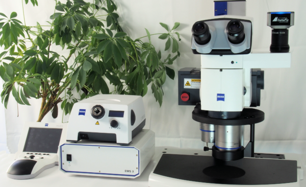 Zeiss V20 with DeltaPix software and microscope camera